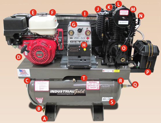 Compressor Generator Welder Combination